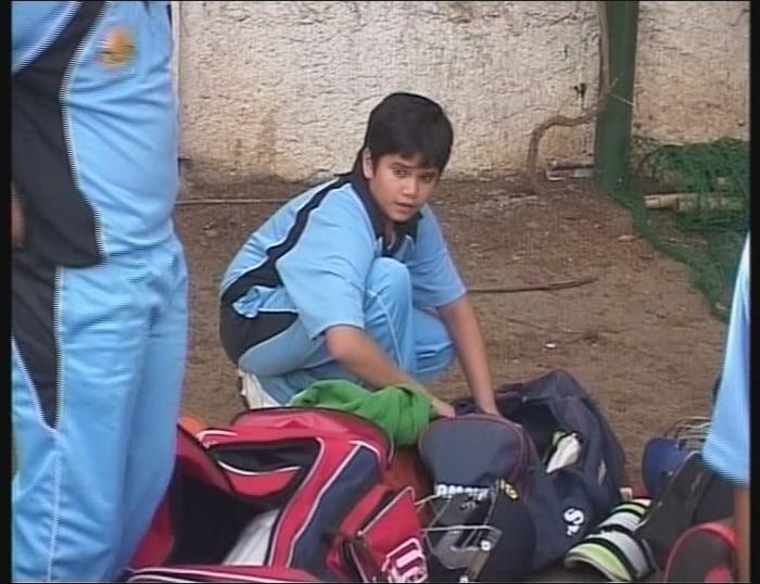 Arjun Tendulkar packs his kit after his team, MIG Cricket Club, lost to the Cadence Cricket Academy.