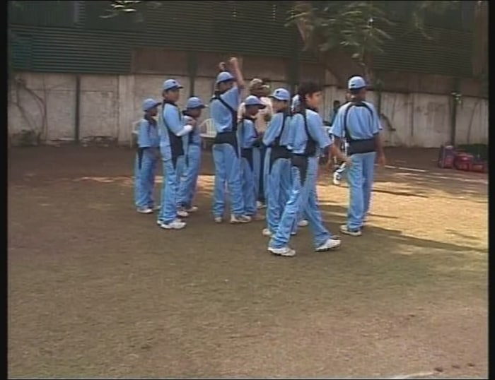 Arjun Tendulkar is seen with his team, as they get ready for their match against Cadence Cricket Academy in Pune.