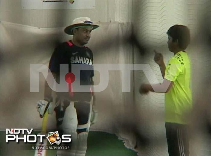 Arjun chats with Sehwag who is all padded-up and ready for his own batting practice.<br><br> Coming Up: Arjun stars for his school team.
