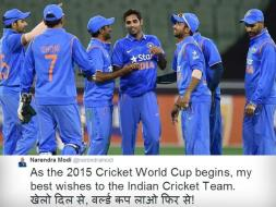 Photo : Prime Minister Narendra Modi - A Die Hard Cricket Fan, Wishes India Ahead of World Cup