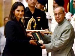 Photo : Sania Mirza Becomes Second Tennis Player to Receive Khel Ratna