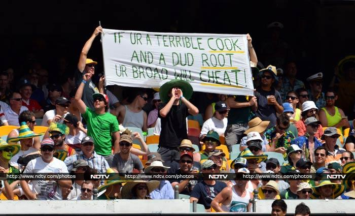 Revenge is sweet.<br><br> While the opening Test may not yet be over but the Australians may well be celebrating a grand start to their revenge campaign against England. <br><br>After all, the tourists need 561 - a record if achieved - to save the first Test. <br><br>Highlights from Day 3 at Brisbane. <br><br>Images courtesy: AFP and AP