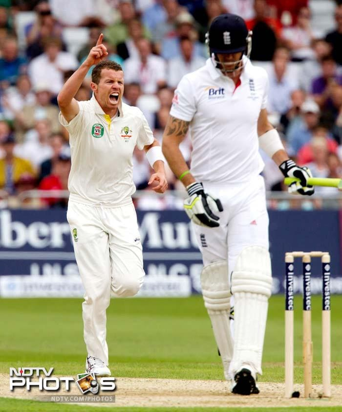 Siddle took five wickets which included the scalp of Kevin Pietersen who scored just 14.