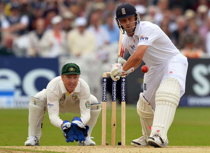 Jonathan Trott replaced his skipper in the middle. He batted sensibly and though he lost partner Joe Root, kept Australia at bay for most parts.