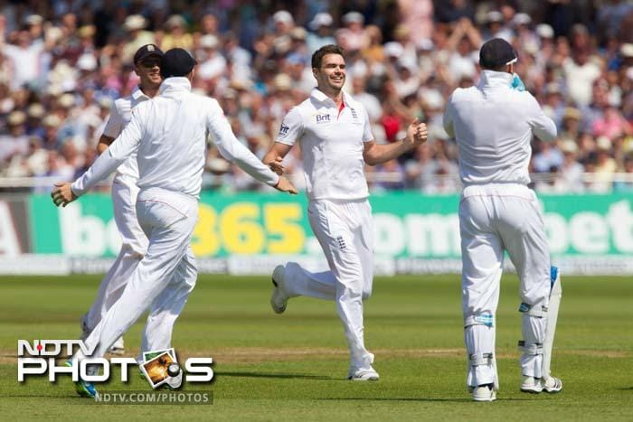 Anderson's first of the day was only a sign of things to come as he steam-rolled the Aussie middle-order.