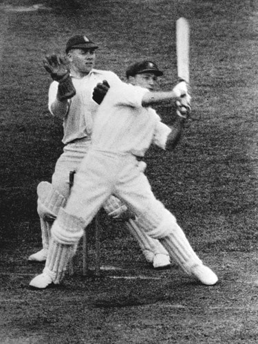 Sir Donald Bradman, who made his Test debut during the 1928-29 Ashes, still tops the list of highest scorers with 5028 runs in 37 Tests. His domineering batting compelled England captain Douglas Jardine to devise a strategy of short-pitched fast bowling directed at batsmen's bodies. Bradman played his final innings in the 1948 Ashes where he was out for a duck. (AFP Photo)