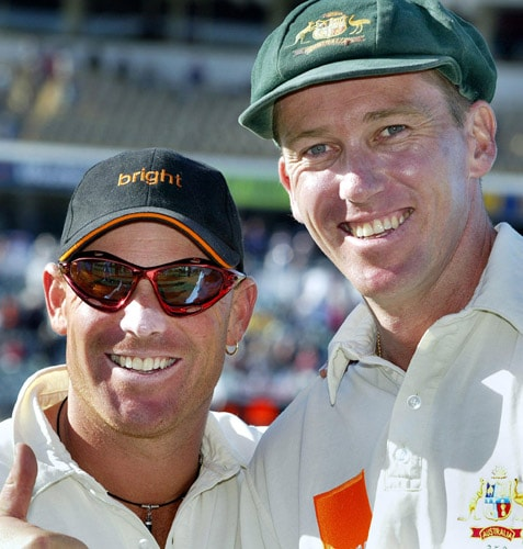 In the bowling department, Australia's leg-spin legend Shane Warne tops the list with 195 wickets in 36 Tests followed by Dennis Lillee's 167 wickets and Glenn McGrath's 157 wickets. Both Warne and McGrath bowed out of the Test cricket after they avenged the humiliating 2005 Ashes defeat in 2007. However, one bowler deserves a special mention. English off-spinner Jim Laker became the first bowler to pick ten wickets in an innings when he bundled the Australians in the second innings of the 4th Test in 1956 at Manchester. (AFP Photo)