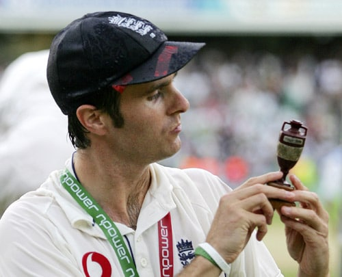 The 2005 Ashes is said to be the best cricketing contest of the recent times. England, under the leadership of Michael Vaughan, pushed their performance and luck by a few notches and won the series 2-1. An all-round show by Andrew Flintoff and reverse swing by pacer Simon Jones played a crucial role in England's victory. (AFP Photo)
