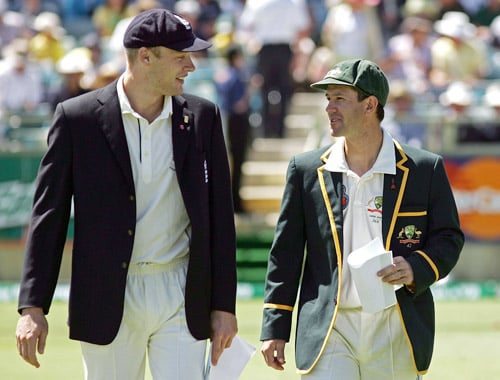 But it was a short-lived success with a hurt, and consequently, ruthless Australia crushing a lacklustre England 5-0 in 2006/07. It was Flintoff who was leading the English side. (AFP Photo)