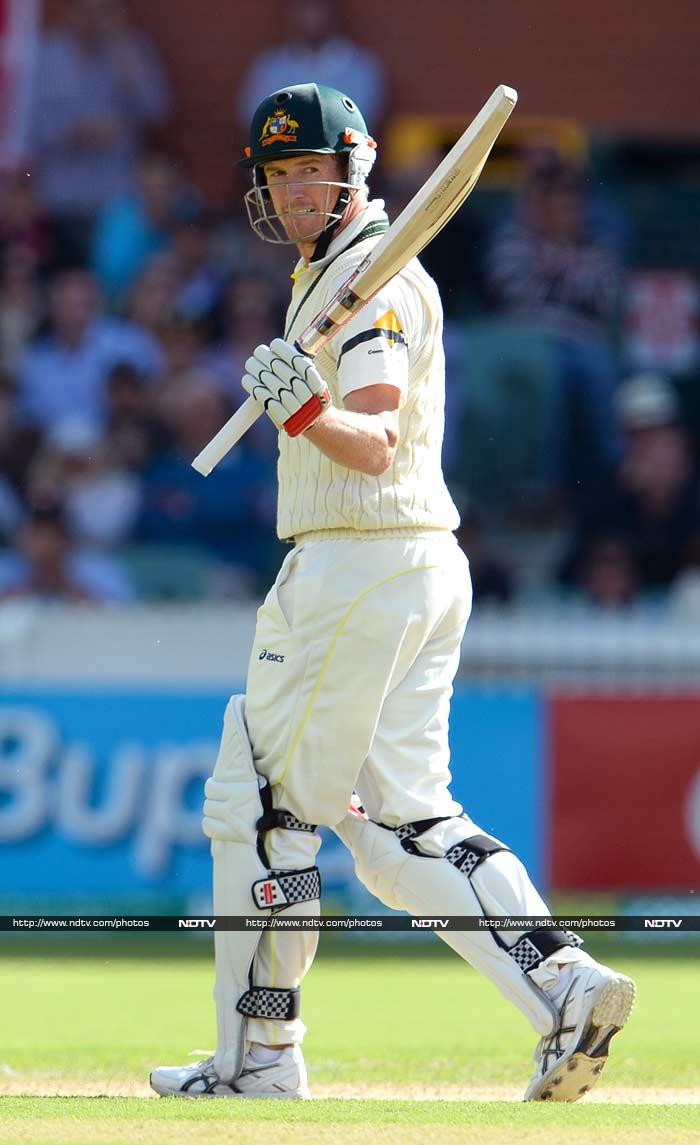 The Australians, one-up in the series, looked in control at 257 for four nearing stumps, before Graeme Swann held a flying catch two-handed at square leg to dismiss the dangerous George Bailey for 53.