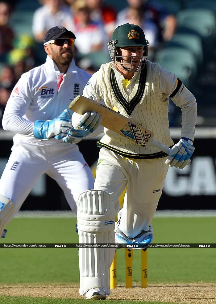 At the close, Australia were 273-5 with Michael Clarke, who boasts a ground average of more than 100, on 48 and Brad Haddin on seven.