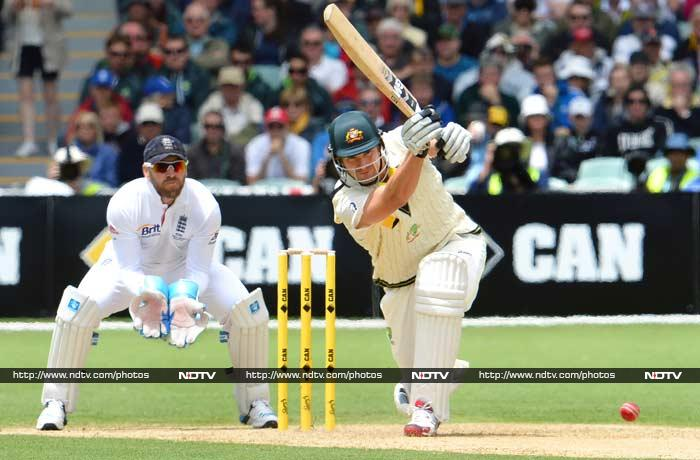 Shane Watson scored his 21st Test half-century but once again missed out on a big score after making a solid start when he was caught and bowled by Jimmy Anderson for 51.