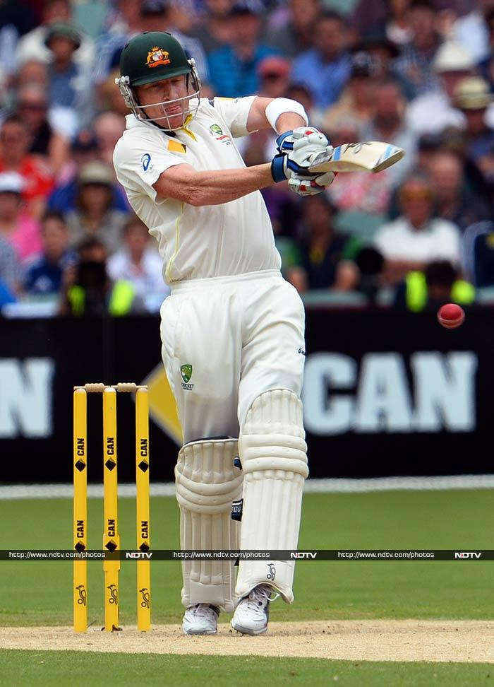Vice-captain Brad Haddin blasted four sixes in his fourth Test ton to help the home side declare at 570 for nine.