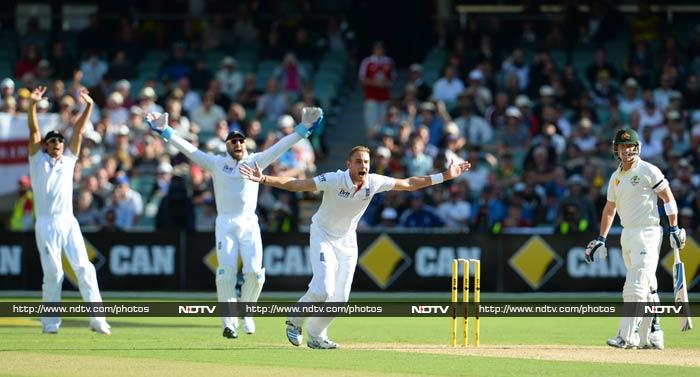 Stuart Broad finished the best of the battered England bowlers with three for 98, while spinners Swann (two for 151) and Panesar (one for 157) took plenty of punishment.