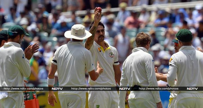 Mitchell Johnson wreaked havoc after lunch with six for 16 off 26 balls for his ninth five-wicket haul and second in consecutive Tests.