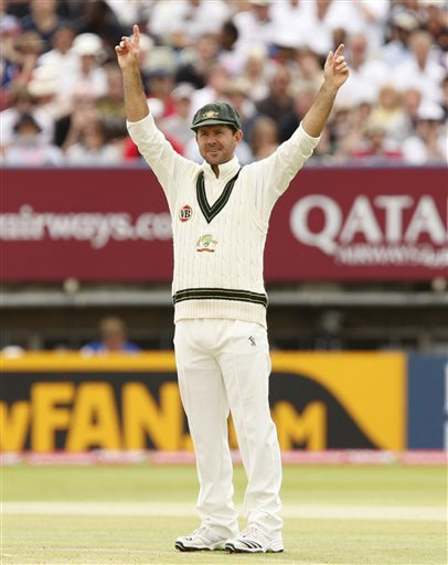 Ricky Ponting directs the field on Day 4 of the third Test between England and Australia in Birmingham. (AP Photo)