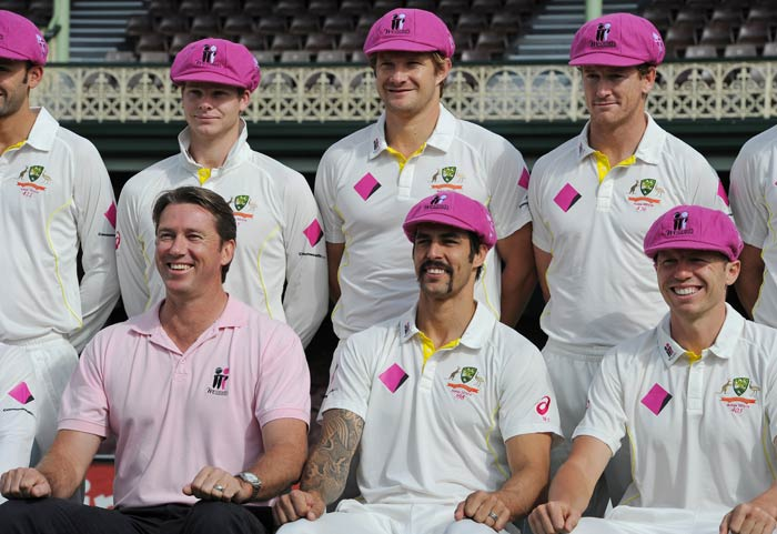 Day 3 at of the fifth Ashes Test at the Sydney Cricket Ground was 'pink day' in memory of Jane McGrath, late wife of Australian great Glenn McGrath, who died in 2008 after a long battle with breast cancer. (All images: AP and AFP)