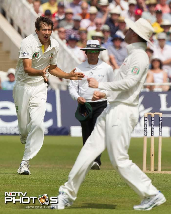 But Cook could not cause further damage as he fell to Ashton Agar for 50.