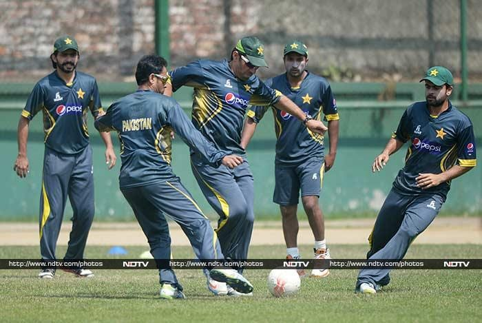 The Pakistani side had a session of football as they trained hard for the final.