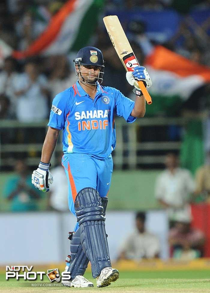 Suresh Raina retains his place in the Indian middle order.