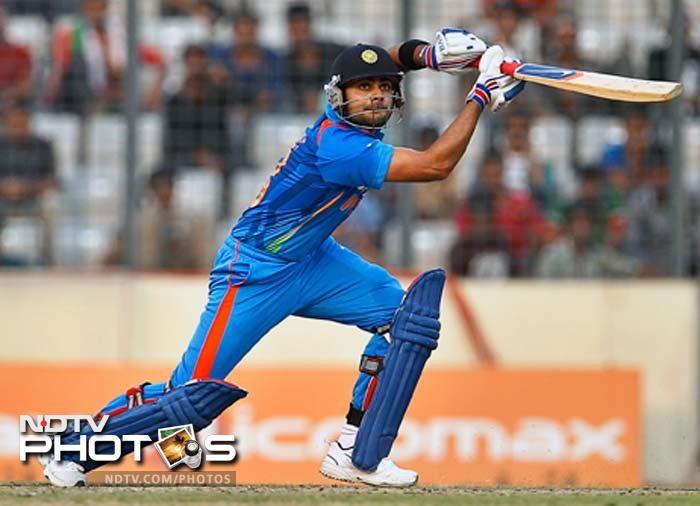 India's Virat Kohli plays a shot. (Photo: AP)