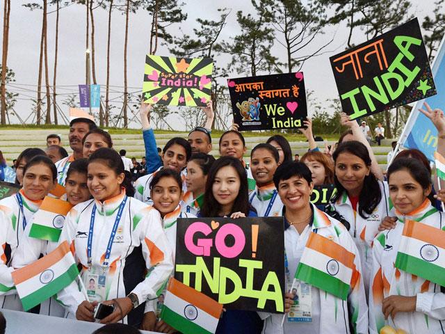 Indian National Flag Hoisted at Asian Games