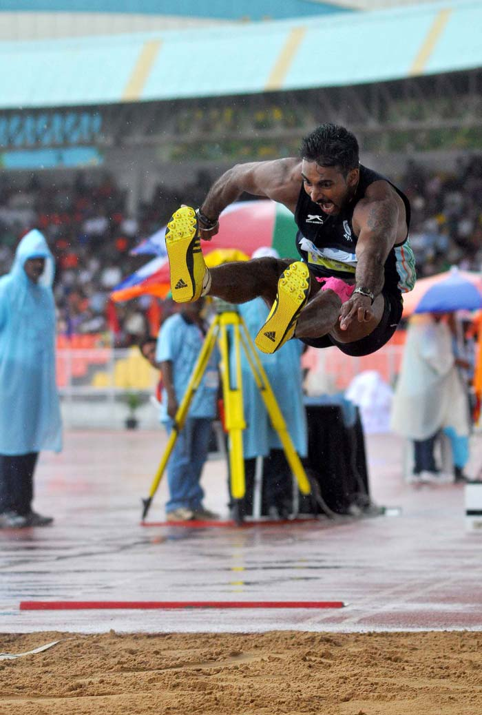 India had also hoped for a gold from national record holder triple jumper Renjith Maheswary but he had to settle for a silver with a jump of 16.76m. He lost the gold to 2010 Asian Games bronze medallist Cao Shuo of China by one centimetre. <br><br> Young Arpinder Singh was third with an effort of 16.58m while Asian season leader Roman Valiyev was fourth with 16.55m.