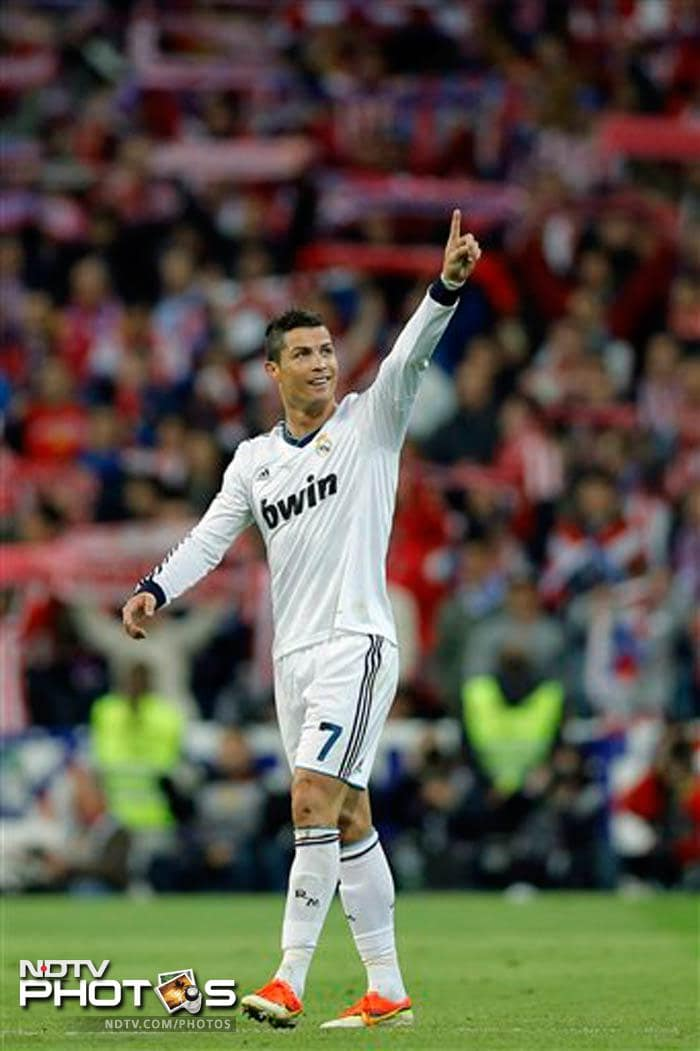 Cristiano Ronaldo looked set to play the starring role when he rose over a defender to head in Luka Modric's corner and net his 55th goal of the season.