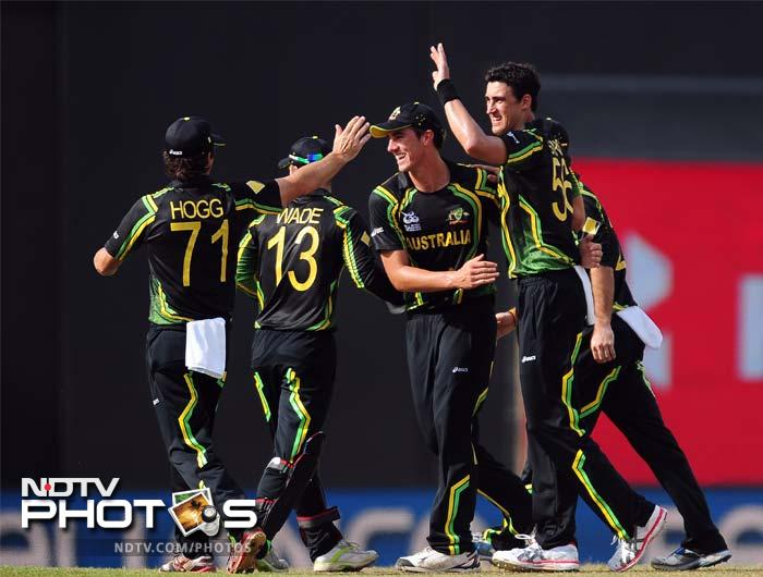 Mitchel Starc joined in to scalp Paul Stirling in the second over. He returned with 2 wickets for 20 runs.