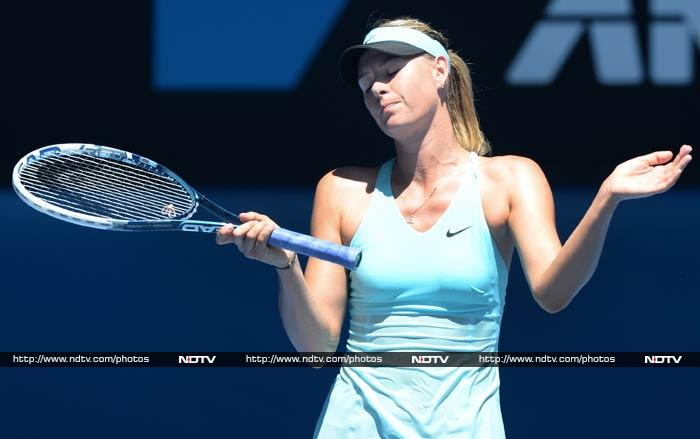 Russia's Maria Sharapova seems to have accepted her defeat here as she crashed to Slovakia's Dominika Cibulkova in the 4th round.