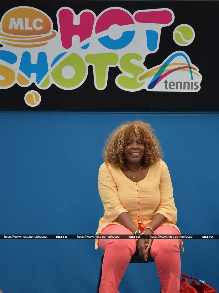 Wonder if Serena Williams' mother - Orcene Price - chose to sit under that sign deliberately? Just wondering, of course.