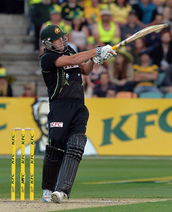 Cameron White, who was recalled into the Australia side for the first time since 2012, smashed a 43-ball knock of 75, including six fours and four sixes to pave the way for his side's massive total.