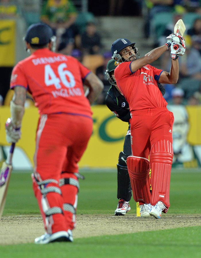 Ravi Bopara went after the bowling but his onslaught was too little too late. Even as he finished on 65 off 27 balls (two fours and seven sixes), England fell short of the Australian total.