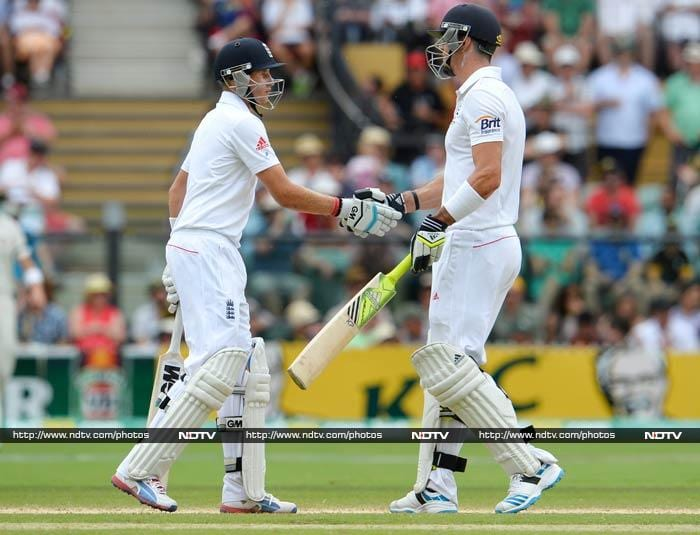 The duo played well for their half-centuries but would soon fall to leave England ont he ropes. (AFP image)