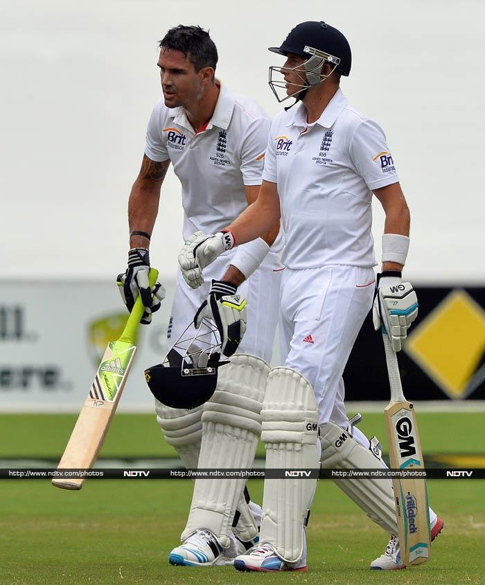 Joe Root and Kevin Pietersen knew they had to play out of their skins to save this Test match. (AFP image)