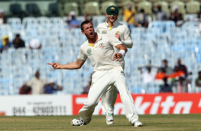 India's reply with the bat was disastrous. James Pattinson struck twice inside five overs to reveal signs of what raw pace can do. (BCCI image)