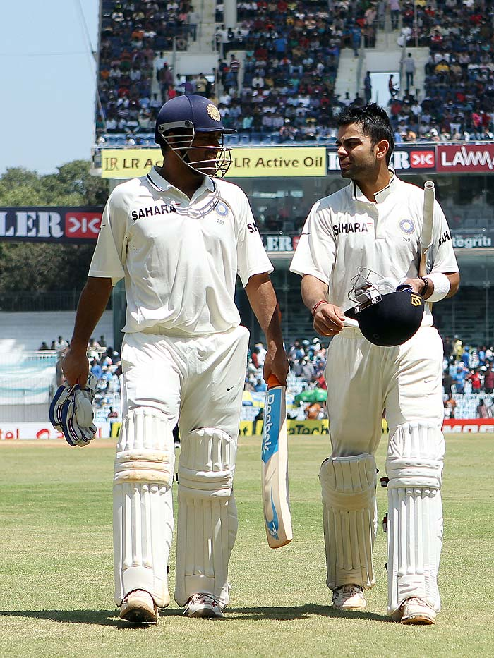 Kohli was joined by skipper MS Dhoni and the two took India to a dominant position, chasing Australia's first innings total. (BCCI image)