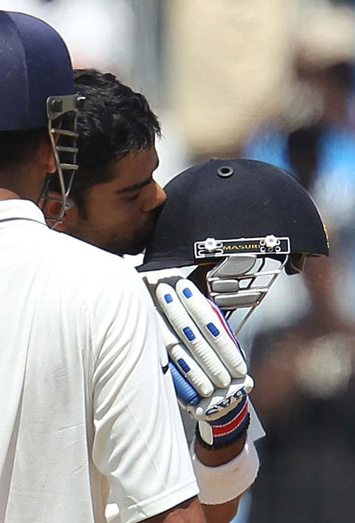 Kohli became extremely cautious when he approached his century but eventually managed to reach the three-figure mark. <br><br>He added seven to it but fell to a mis-timed shot that he was trying to place into the stands. (BCCI image)