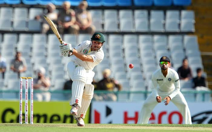 Cowan did mis-time a few shots but the opening session largely belonged to him and Warner. (Image courtesy: BCCI)