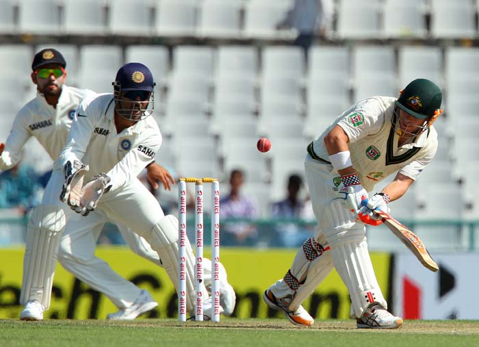 David Warner soon took the lead in scoring runs as Indian bowlers were snubbed to the corner. (Image courtesy: BCCI)