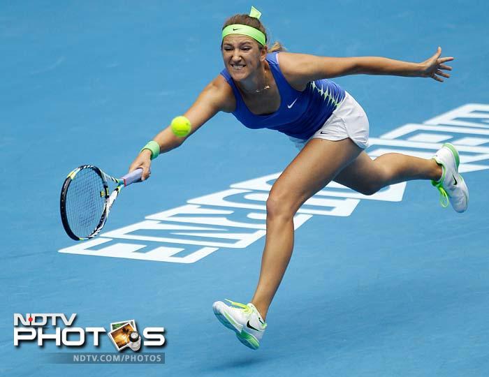 Victoria Azarenka too hardly broke a sweat as she made Mona Barthel taste defeat worth 6-2, 6-4.