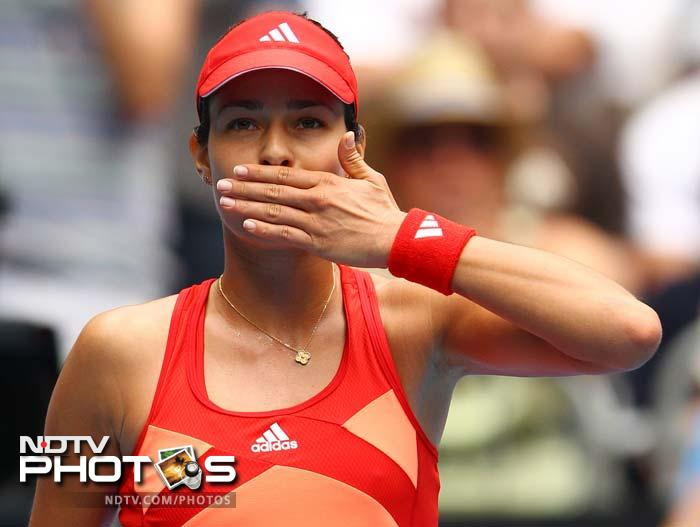 The American eventually lost out to Ivanovic 6-3, 6-4.