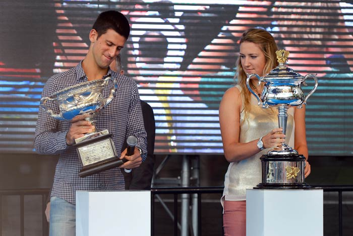 Azarenka (right) has said that she is here to play and win, not play to defend. <br><br> With the Australian Open seen each year as a fair sign of how the year is going to pan out, these two would be the premier players to beat.