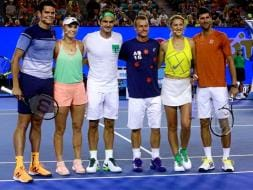 Australian Open: Roger Federer, Novak Djokovic Thrill Melbourne On Kids Tennis Day