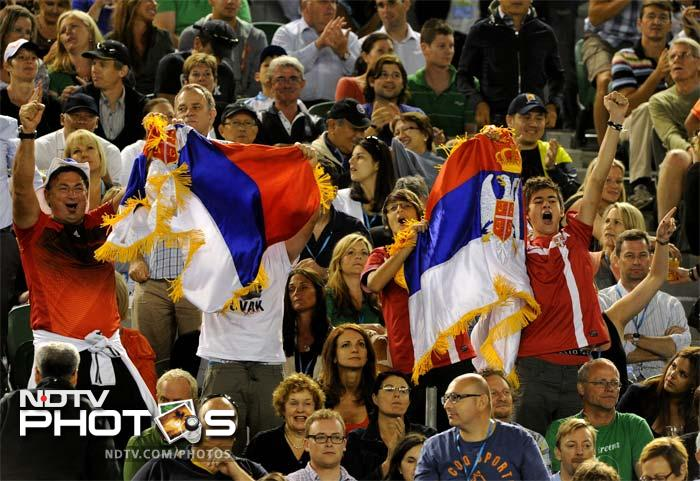 Serbian fans has a lot to cheer for as their player continued his march on the tennis court, while the other main rivals in Roger Federer and Rafael Nadal have been left to fight it out between themselves.