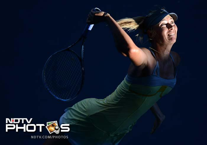 Sharapova recorded a routine 6-2, 6-2 victory in 1hr 6min over fellow Russian Ekaterina Makarova. <br><br> Later when asked about Forbes listing her as the richest female athlete, she replied: Do you think that they have my pass code to my bank account?