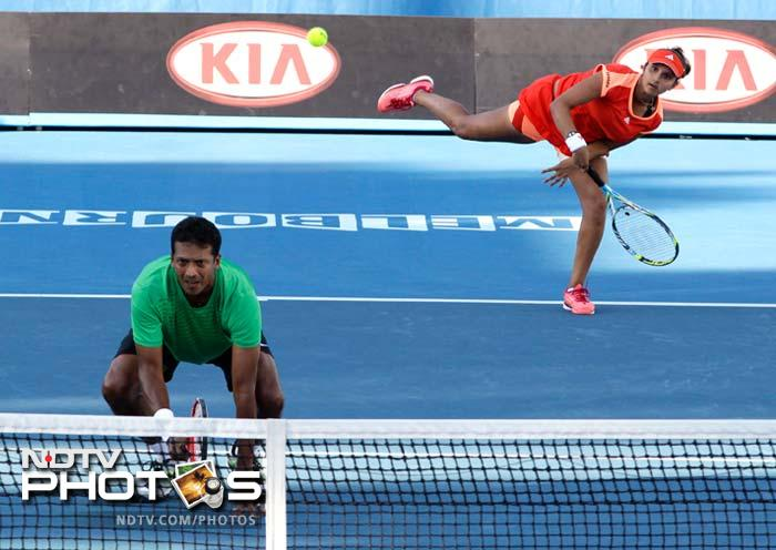 While others were having a mixed day, India's Sania Mirza was pioneering her way ahead. The Indian ace reached the quarter-finals of both the women's doubles and the mixed doubles events with Elena Vesnina and Mahesh Bhupathi respectively.