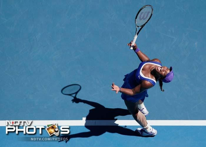 The day began with a shocker. Five-time champion Serena Williams crashed to one of her worst ever grand slam defeats. She lost to little-known Russian Ekaterina Makarova.