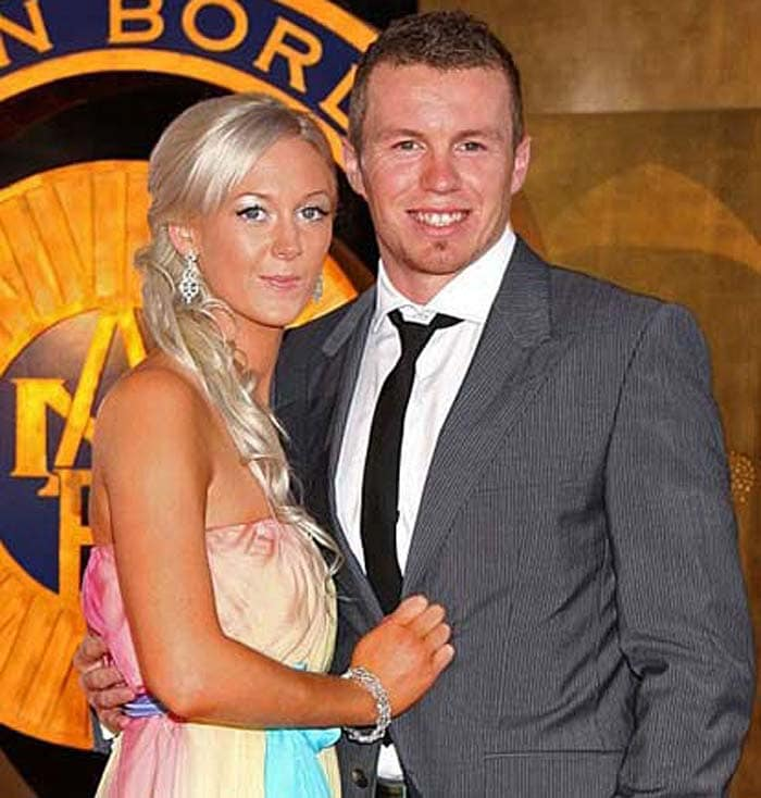<b>Peter Siddle:</b> The fast-bowler reportedly gifted a diamond ring to girlfriend Katrina Quaine. Australian press suggests that the two otherwise keep a rather low-profile compared to some other, more flamboyant teammates.