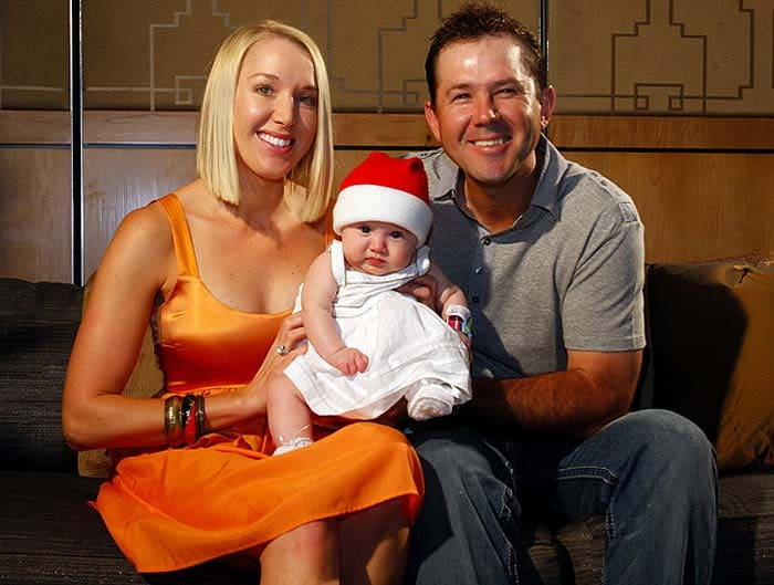 <b>Ricky Ponting:</b> We said allegedly/reportedly at the beginning but we can say surely that this former Australian skipper married long-time girlfriend Rianna Jennifer Cantor in 2002. He has credited her for his increased maturity, in the past and the two have two daughters - Emmy Charlotte and Matisse Ellie.